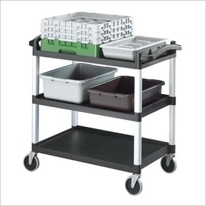 """Cambro Cart Trolley 4"""" Castor, Upto 136 Kg, 32 X 16 X 38"""" Rs. 9690.00++"""