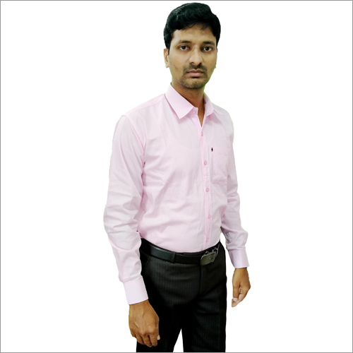 Mens Light Pink Formal Shirt