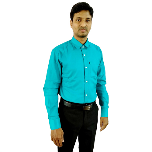 Mens Green Formal Shirt