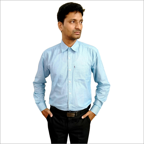 Mens Light Blue Formal Shirt