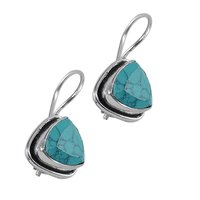 Manmade Turquoise Earring PG-122596