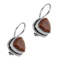 Brown Sunstone Earring PG-122598