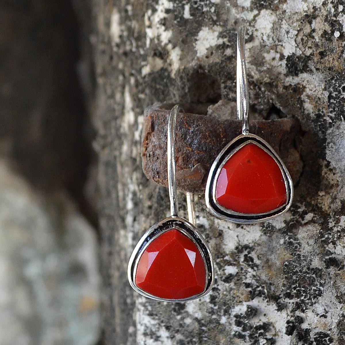 Red Quartz Earring PG-122600