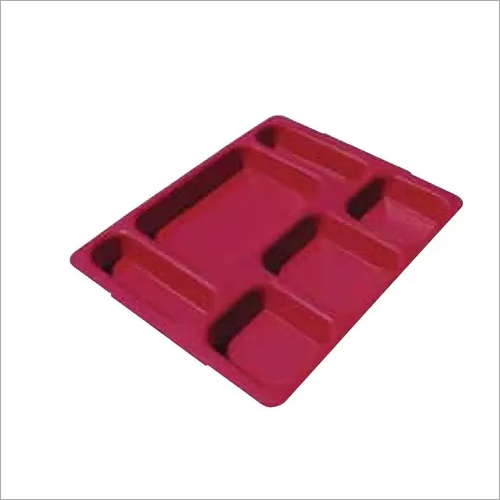 Cambro Bento Box 6 Compartment Fast Food Tray with Lid