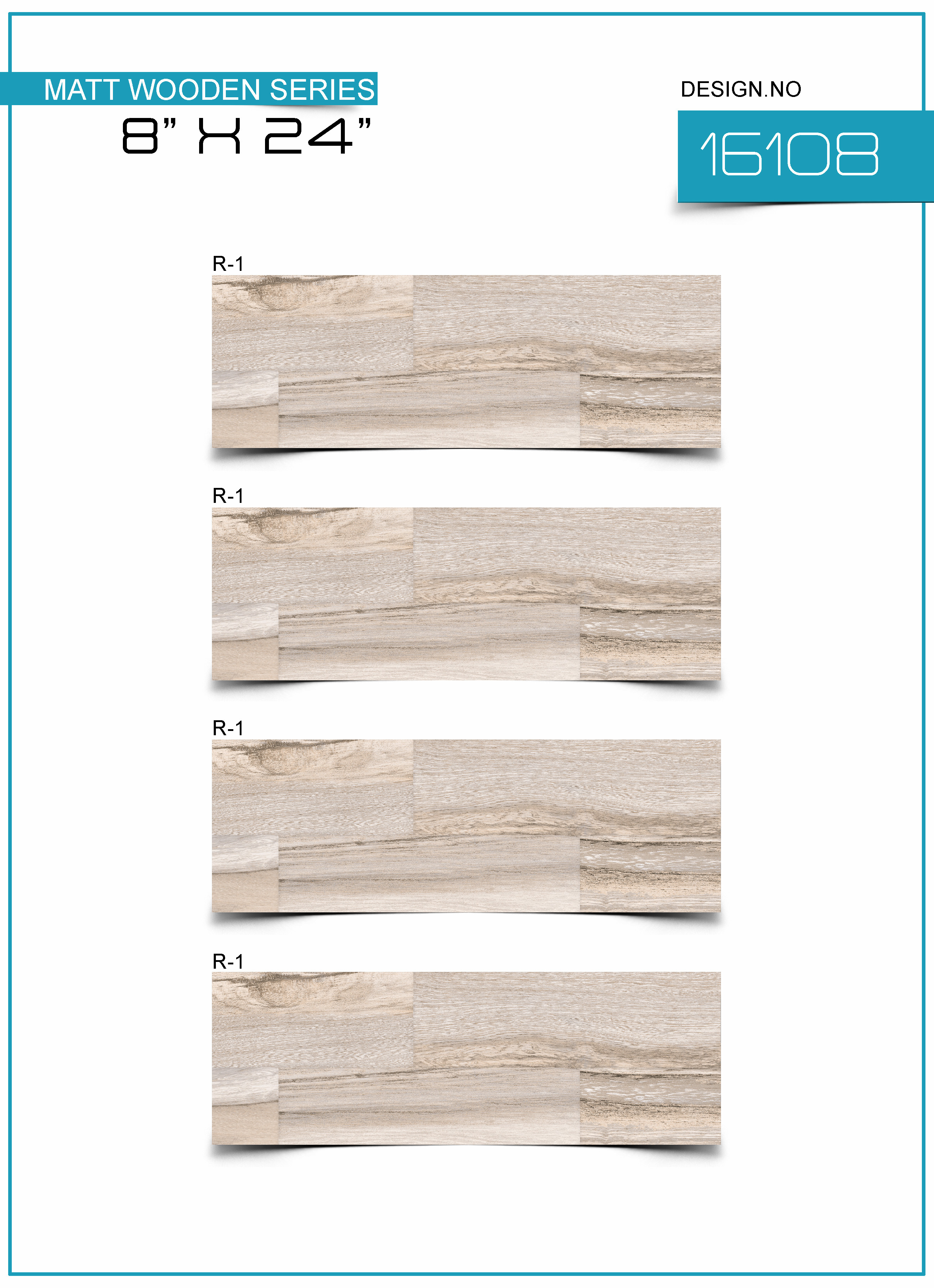 Wooden strips tiles 200X600MM