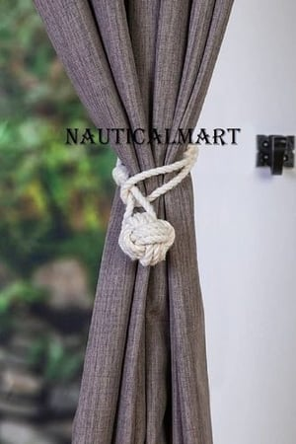 Nauticalmart curtain tiebacks small knot nautical style window treatment rope tie