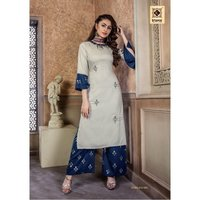 Ladies Embroidery Kurti With Palazzo