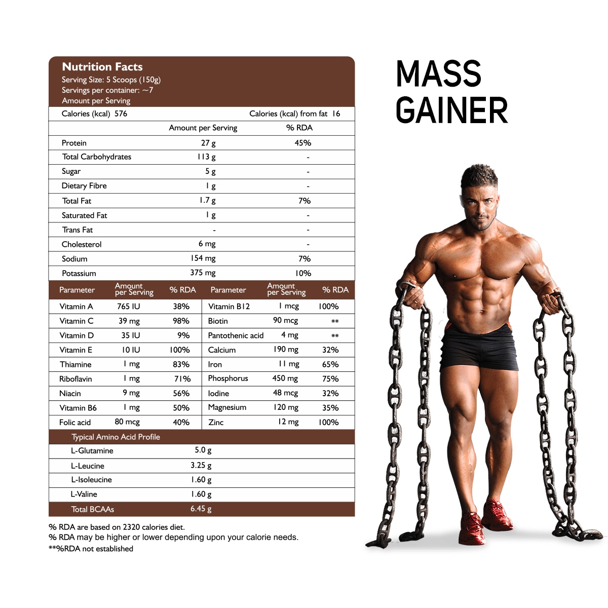 Muscle Mass Gainer (Mango Premium) 1 Kg