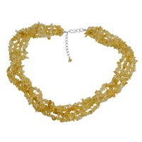 Citrine Gemstone Chips Necklace PG-131511