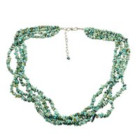 Turquoise Gemstone Chips Necklace PG-131514