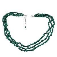 Malachite Gemstone Chips Necklace PG-131516
