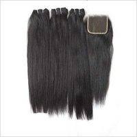 Unprocessed Straight Human hair with closure