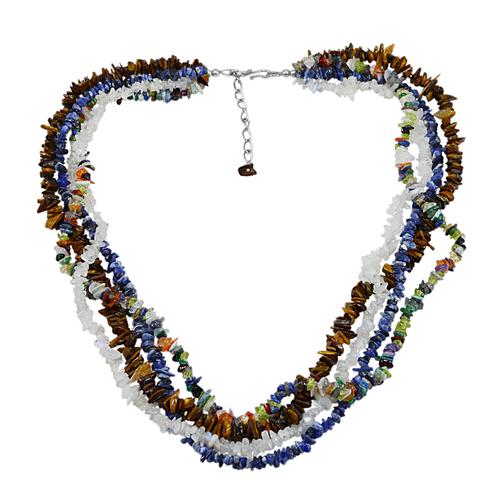 Multi Gemstone Chips Necklace PG-131518