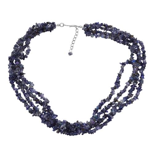 Iolite Gemstone Chips Necklace PG-131523