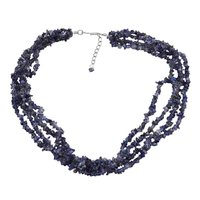 Iolite Gemstone Chips Necklace PG-131523