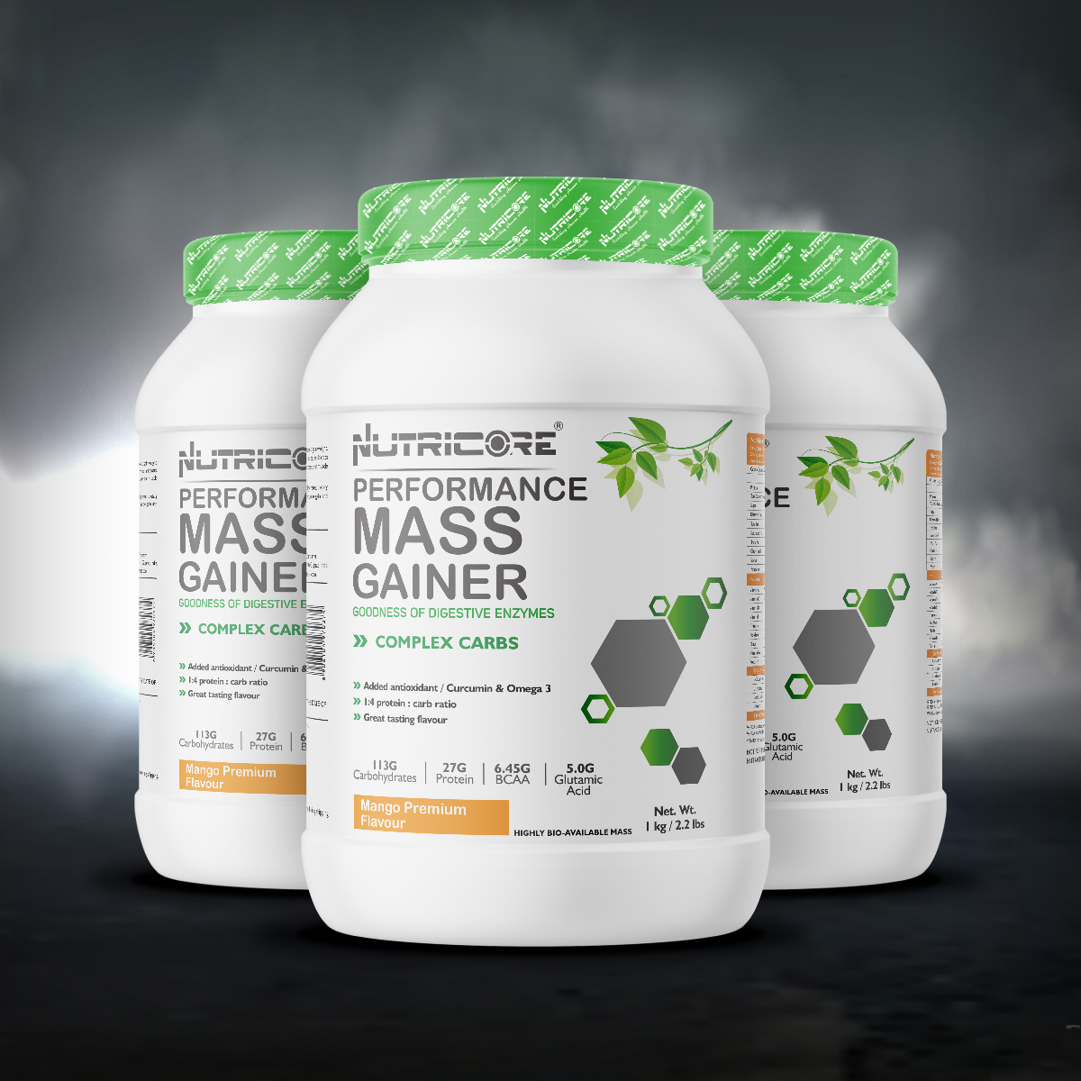 Muscle Mass Gainer (Mango Premium) 3 Kg