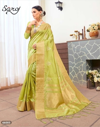 Pista Green Silk Saree