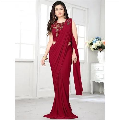 plain saree