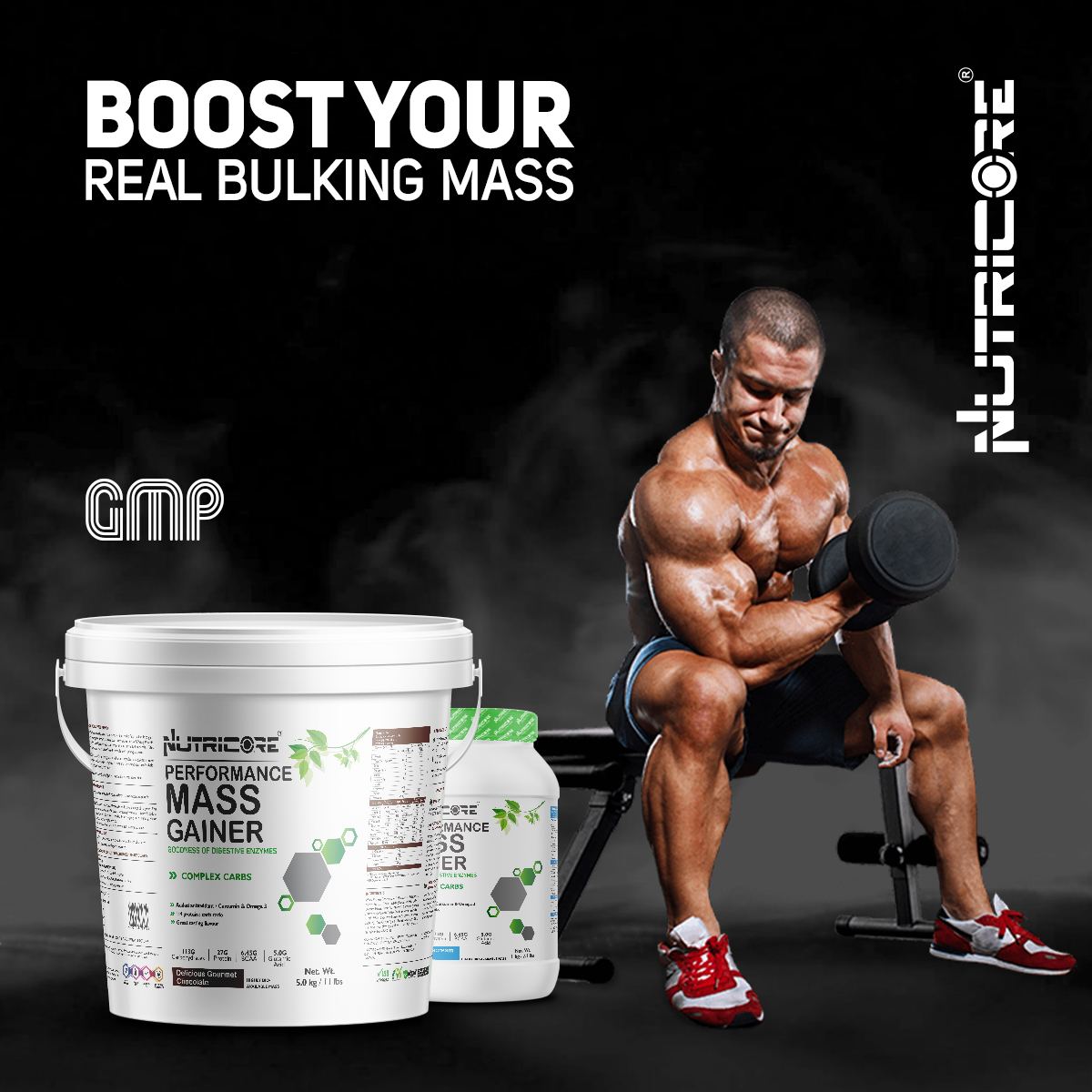 Muscle Mass Gainer (Strawberry Milkshake) 3 Kg
