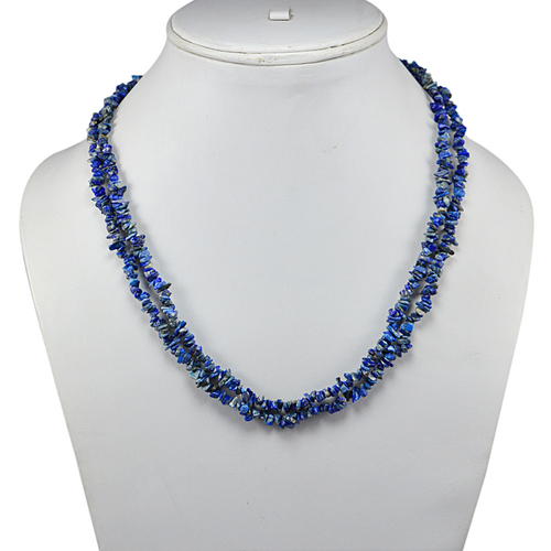 Silver Gemstone Beaded Necklace PG-131536
