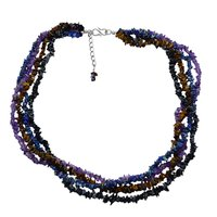 Multi Gemstone Chips Necklace PG-131537
