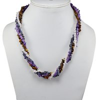 Multi Stone Chips Necklace PG-131542