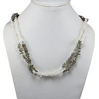 Labradorite & Rainbow Moonstone Gemstone Chips Necklace PG-131543