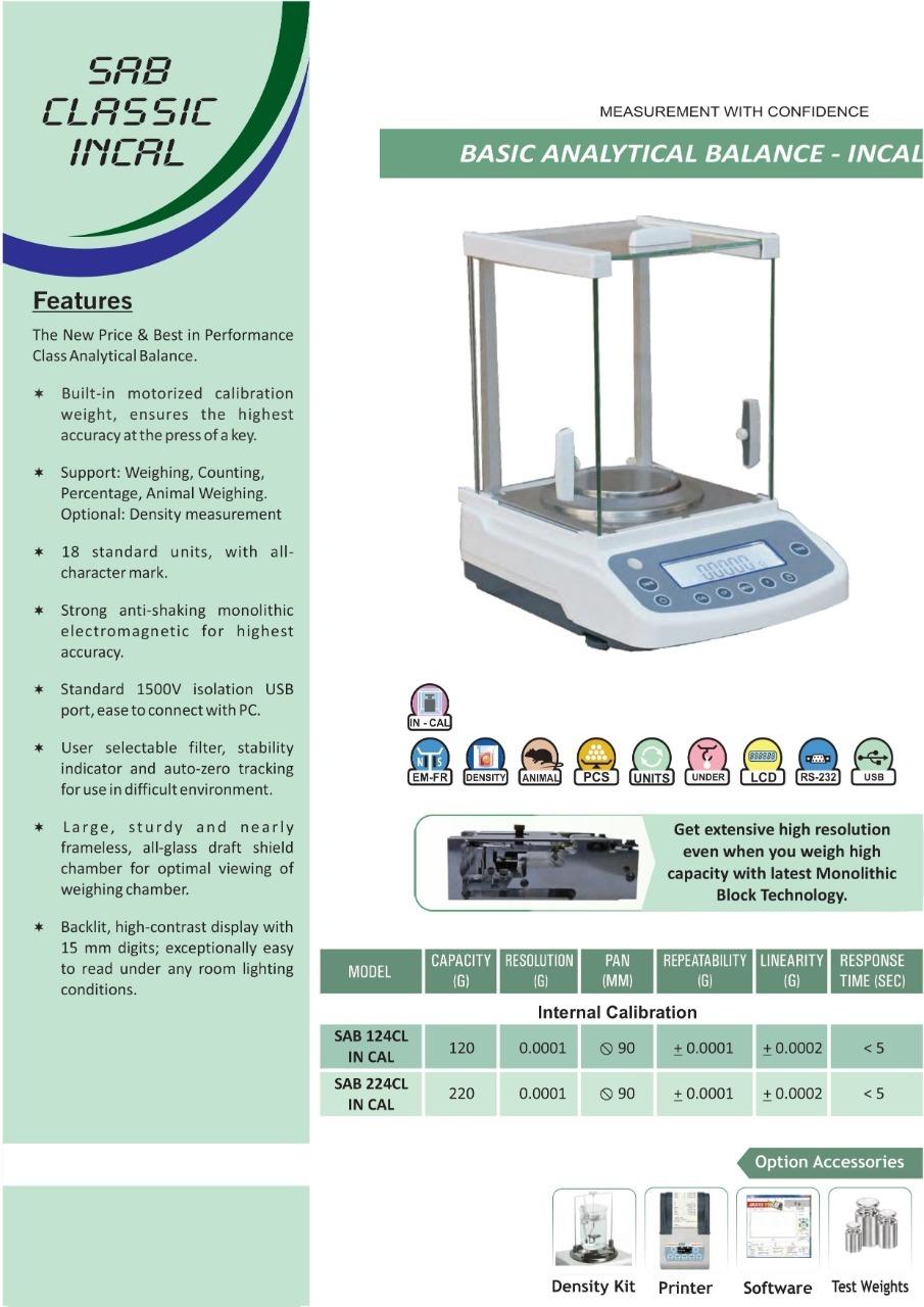 220 gm x 0.1mg Scale - Internal Calibration