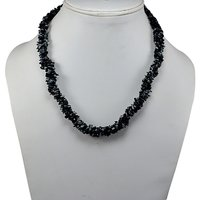 Snowflake Obsidian Gemstone Chips Necklace PG-131545