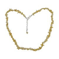 Citrine Gemstone Chips Necklace PG-131548