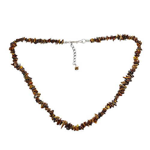 Tiger Eye Gemstone Chips Necklace PG-131551