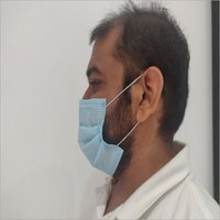 3 Ply Non Woven Mask Machine Stitched Ear loop