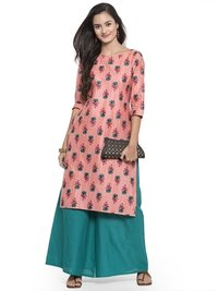 Cotton Kurtis With Palazzo Set
