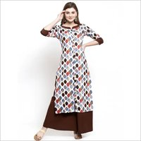 Ladies Rayon Designer Kurta Set