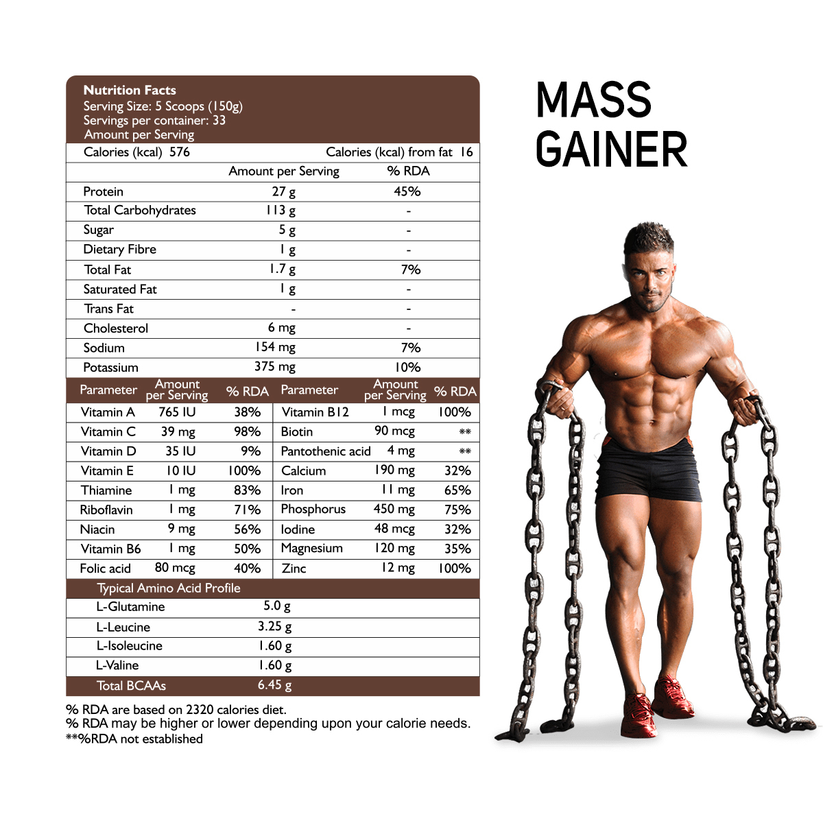 Muscle Mass Gainer (Delicious Gourmet Chocolate Flavour) 5 Kg