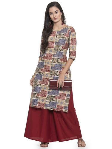 Cotton Kurta With Palazzo Set
