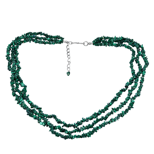 Malachite Gemstone Chips Necklace PG-131561