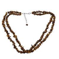 Tiger Eye Gemstone Chips Necklace PG-131562