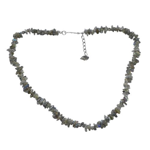 Labradorite Gemstone Chips Necklace PG-131565