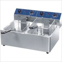 Fryer Counter Top Electric 1/2 Gn - Double Tank - Economy