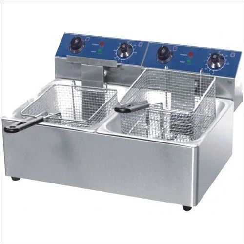 Fryer Counter Top Electric 1/2 Gn - Double Tank - Heavy Duty