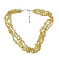 Citrine Gemstone Chips Necklace PG-131569