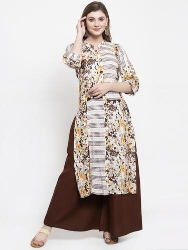 Rayon Daily Wear Kurta with Palazzo Set