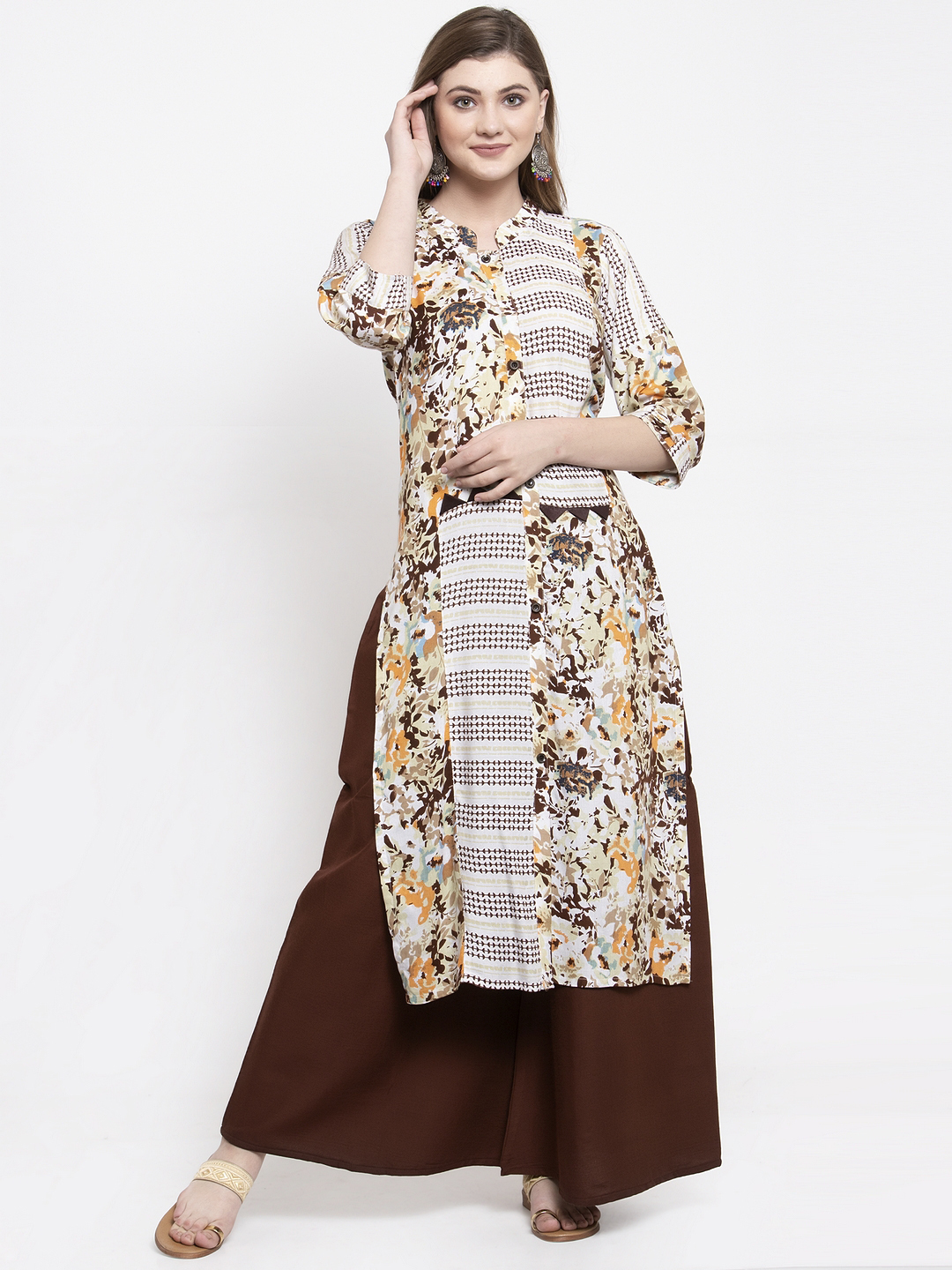 Rayon Daily Wear Kurta with palazzo Set