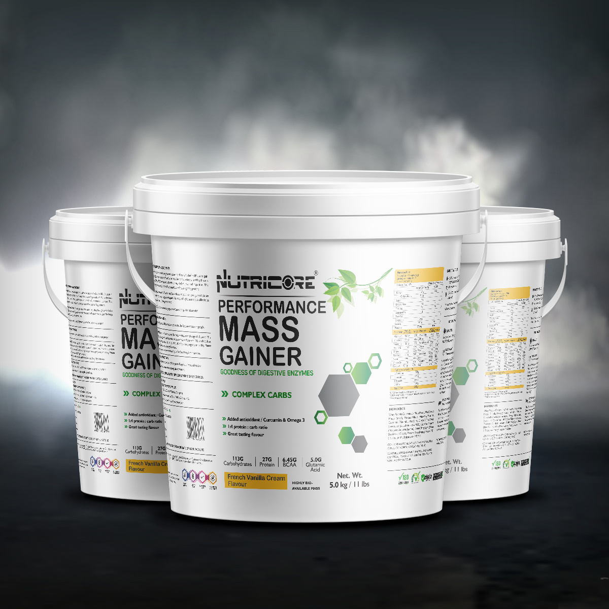 Muscle Mass Gainer (French Vanilla Cream Flavour) 5 Kg