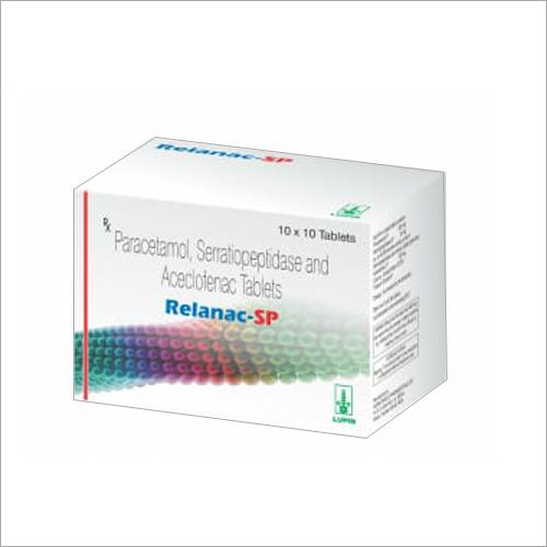 Paracetamol Serratiopeptiopeptidase And Aceclofenac Tablets