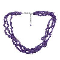 Amethyst Gemstone Chips Necklace PG-131570