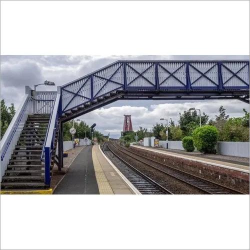 Steel Foot Over Railway Track Crossing Bridge