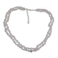 Rose Quartz Gemstone Chips Necklace PG-131573
