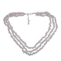 Rose Quartz Gemstone Chips Necklace PG-131575
